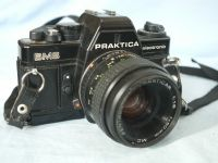 ' BMS ' Praktica BMS SLR Camera + 50mm Lens £17.99